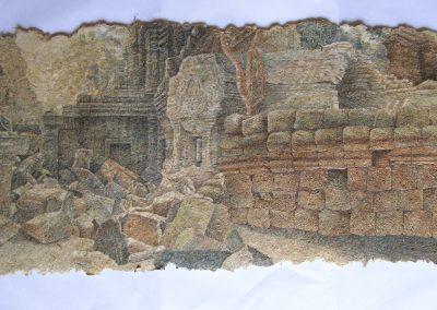 Pierres des jardins d'Angkor (coll.part)